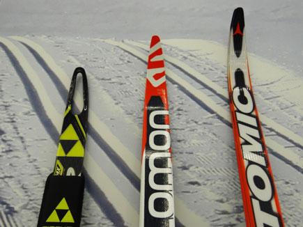 Беговые лыжи fischer carbonlite с дырками