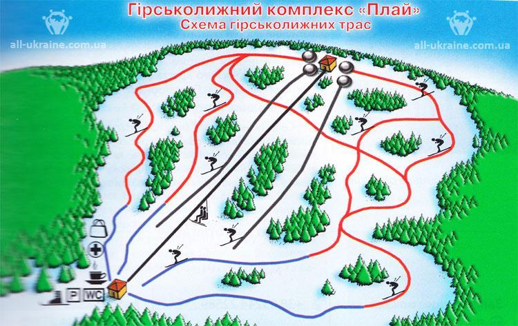 Плай (Play) - горнолыжный курорт Украины. Каталог горнолыжных курортов:  снег и погода, карты, склоны, цены, отзывы - Skigu.ru
